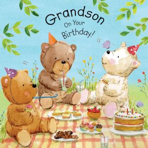 TOT14  Grandson Birthday Card